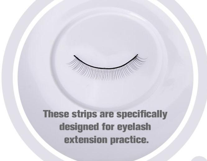 10 Pairs Long Lasting False Strip Eyelashes Fake Individual Eyelashes For Practice