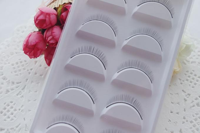 Synthetic Hair Individual False Eyelashes , Natural Looking Fake Eyelashes