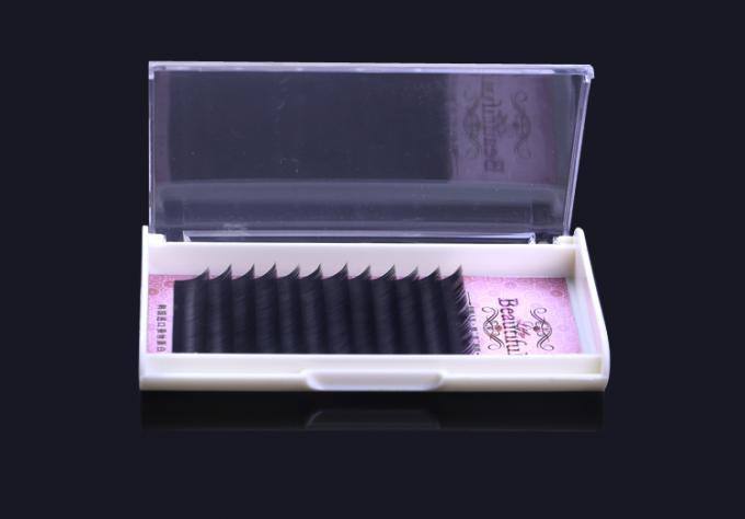 Individual Natural False Eyelashes Long Lasting False Eyelashes J / B / C / D Curl
