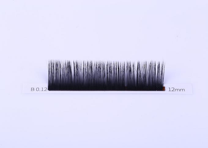 Volume 0.12MM Flat Eyelash Extensions , Ellipse Flat Lashes Synthetic Fiber Material