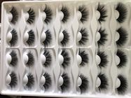 China wholesale 100% handmade mink eyelashes private label 3d mink lashes 25mm-27mm factory